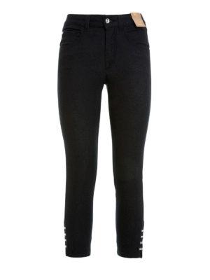 Angelo Marani: skinny jeans - Embellished crop high waisted jeans