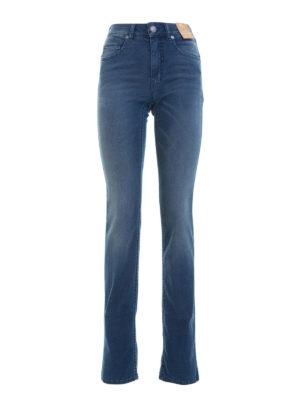 Angelo Marani: straight leg jeans - Denim high waisted jeans