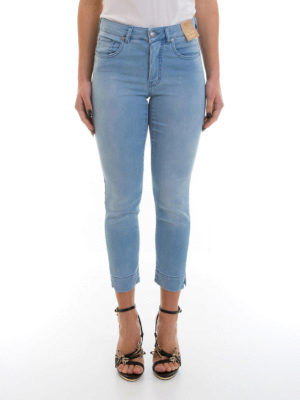 Angelo Marani: straight leg jeans online - Denim cropped jeans