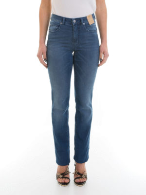 Angelo Marani: straight leg jeans online - Denim high waisted jeans