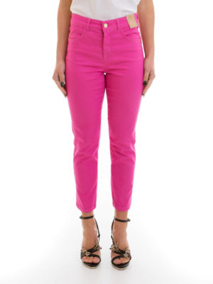 Angelo Marani: straight leg jeans online - Slim high waisted jeans