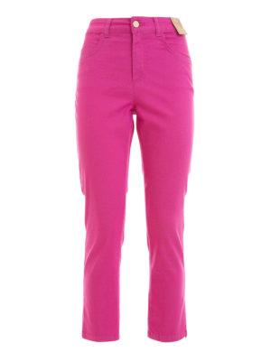 Angelo Marani: straight leg jeans - Slim high waisted jeans