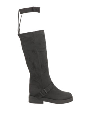 Ann Demeulemeester: boots - Buckle suede boots