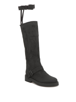 Ann Demeulemeester: boots online - Buckle suede boots
