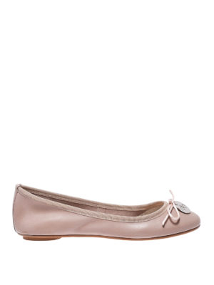 ANNA BAIGUERA: flat shoes - Annette Flex nude leather flats