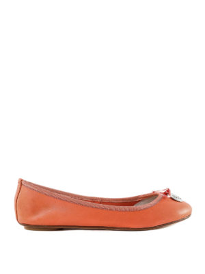 ANNA BAIGUERA: flat shoes - Annette Flex orange leather flats