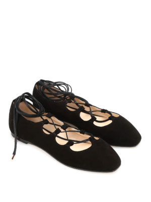 Anna Baiguera: flat shoes online - Anny Ghillie ballerinas