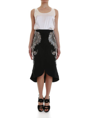Antonio Berardi: Knee length skirts & Midi online - Embroidered pencil skirt