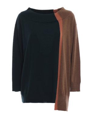 ANTONIO MARRAS: maglia collo a barchetta - Maglia over in lana a blocchi di colore
