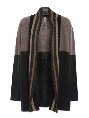 ANTONIO MARRAS: cardigan - Cardigan over in lana a blocchi di colore
