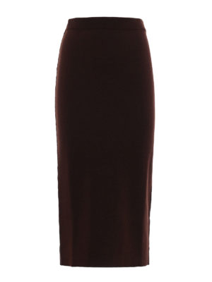 Antonio Marras: Knee length skirts & Midi - Knit wool reversible pencil skirt