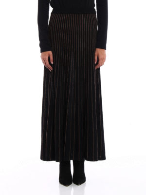 Antonio Marras: Long skirts online - Striped knitted wool skirt