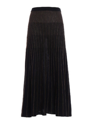 Antonio Marras: Long skirts - Striped knitted wool skirt