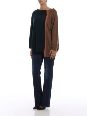 ANTONIO MARRAS: maglia collo a barchetta online - Maglia over in lana a blocchi di colore
