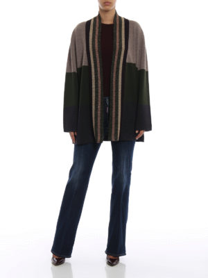 ANTONIO MARRAS: cardigan online - Cardigan over in lana a blocchi di colore