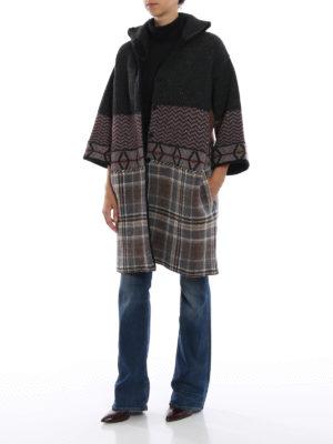 ANTONIO MARRAS: cappotti corti online - Cappotto corto misto lana effetto patchwork