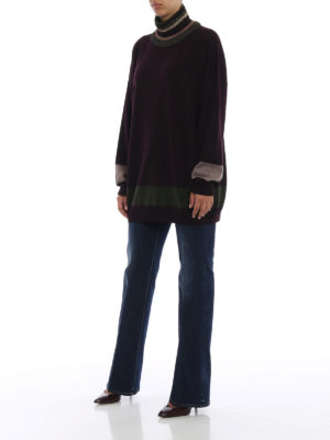 ANTONIO MARRAS: maglia a collo alto e polo online - Dolcevita over in lana con bande a contrasto