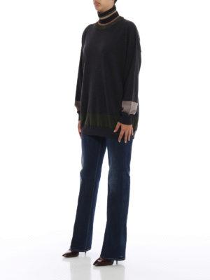ANTONIO MARRAS: maglia a collo alto e polo online - Dolcevita over in lana con righe a contrasto