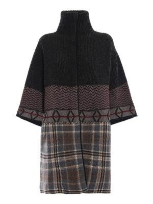 ANTONIO MARRAS: cappotti corti - Cappotto corto misto lana effetto patchwork