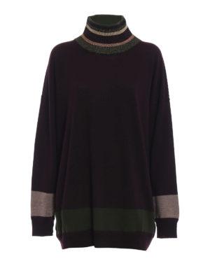 ANTONIO MARRAS: maglia a collo alto e polo - Dolcevita over in lana con bande a contrasto