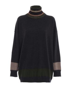 ANTONIO MARRAS: maglia a collo alto e polo - Dolcevita over in lana con righe a contrasto