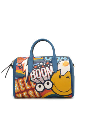 Anya Hindmarch: bowling bags - Multicolour print barrel bag