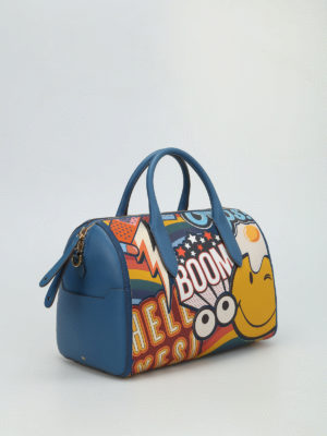Anya Hindmarch: bowling bags online - Multicolour print barrel bag