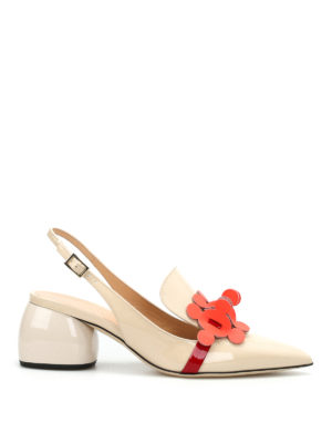 Anya Hindmarch: court shoes - Apex patent slingback pumps