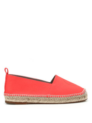 Anya Hindmarch: espadrilles - Smiley fluo leather espadrilles