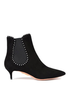 Aquazzura: ankle boots - Jicky suede ankle boots