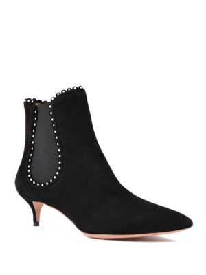 Aquazzura: ankle boots online - Jicky suede ankle boots