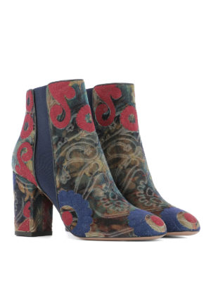 Aquazzura: ankle boots online - Patterned jacquard ankle boots