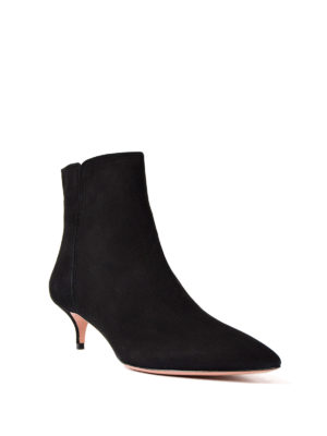 Aquazzura: ankle boots online - Quant mini heel suede ankle boots