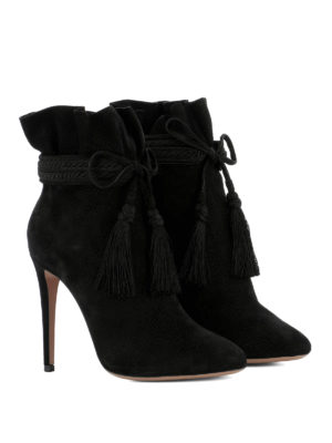 Aquazzura: ankle boots online - Shanty suede heeled ankle boots