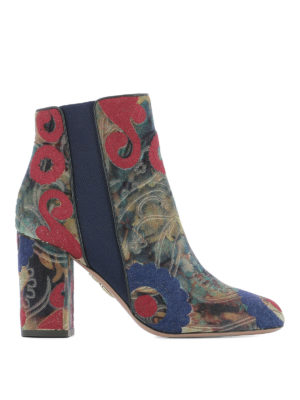 Aquazzura: ankle boots - Patterned jacquard ankle boots