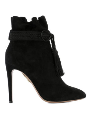 Aquazzura: ankle boots - Shanty suede heeled ankle boots