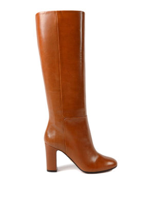 Aquazzura: boots - Brera smooth calf leather boots