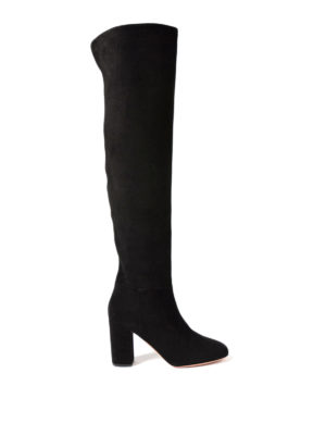 Aquazzura: boots - London over-the-knee suede boots