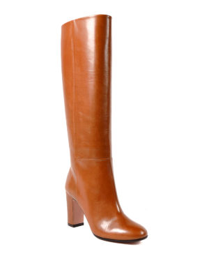 Aquazzura: boots online - Brera smooth calf leather boots