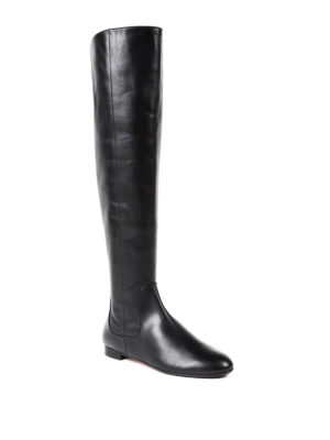 Aquazzura: boots online - Rider over-the-knee flat boots