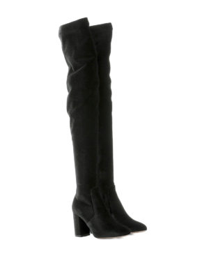 Aquazzura: boots online - So Me stretch velvet boots