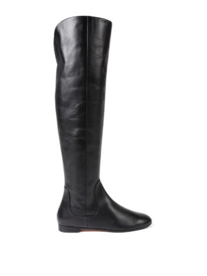 Aquazzura: boots - Rider over-the-knee flat boots