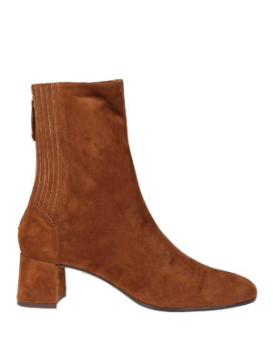 Aquazzura: stivali - Saint Honoré Bootie 50 in suede cannella