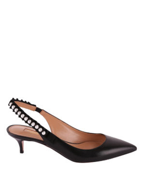 Aquazzura: scarpe décolleté - Slingback Love Story con perle
