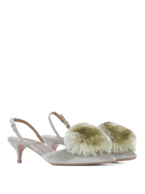 Aquazzura: court shoes online - Powder Puff Sling 45 pumps