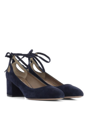 Aquazzura: court shoes online - Trinity suede pumps