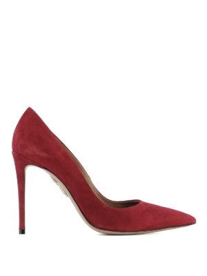 Aquazzura: court shoes - Pointy toe suede pumps