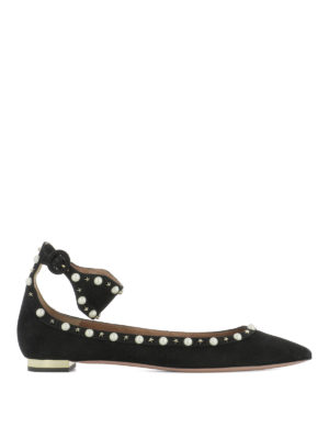 Aquazzura: flat shoes - Harlow embellished flats