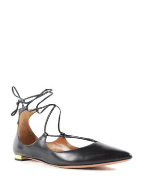 Aquazzura: flat shoes online - Christy leather flats