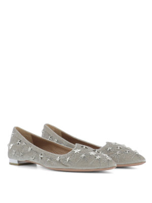 Aquazzura: flat shoes online - Cosmic Star velvet flats
